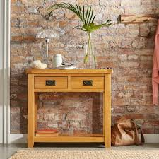 hallway table with drawers 2. Oakland 100% Solid Wood Console Table \u2013 A 2 Drawer Hallway With Drawers