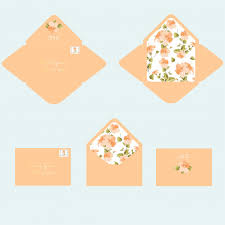 Invitation Envelope Template Wedding Invitation Envelope Template Vector Premium Download