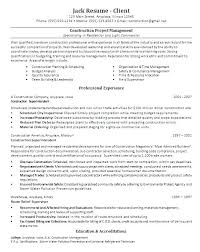 Construction Project Manager Resume Template Good Project Manager