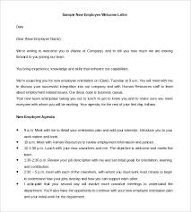 New Employee Welcome Letter Template 21 Hr Welcome Letter Templates