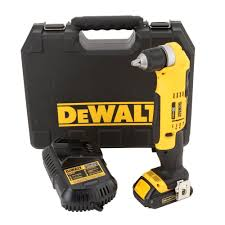 bosch right angle drill. dewalt 20-volt max lithium-ion cordless compact right angle drill kit with battery 1.5ah, charger and case-dcd740c1 - the home depot bosch
