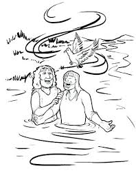 Baptism Of Jesus Coloring Page Baptism Coloring Pages Printables