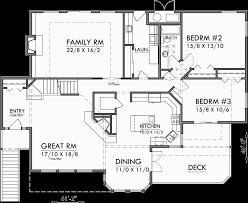 main floor plan for 10165 sloping lot house plans daylight basement house plans luxury