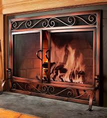 x small solid steel and mesh bristol fire screen in holiday 2016 from plow hearth