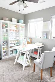 home office makeover. Chic Office - Coral And Mint, For The Girl Boss- Home Makeover