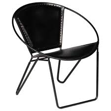 round leather seat black roll