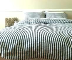 ticking stripe duvet cover bedding striped grey and white reversible uk
