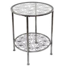 metal accent table. Image Is Loading Addison-Daisy-Design-Round-Grey-Metal-Accent-Table- Metal Accent Table