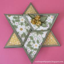 fold card crafting with joanie how to make a star fold card