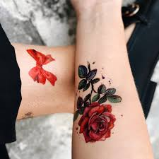 Temporary Tattoo Buy The Rose Color