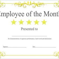 Employee Of The Month Certificate Templates Employee Award Certificate Free Formal 393310755395 Employee