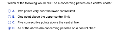 Solved Which Of The Following Would Not Be A Concerning P