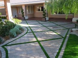 patio pavers with grass in between. Pavers, Turf, Design Newtex Landscape, Inc. Henderson, NV Patio Pavers With Grass In Between