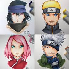Team 7 by @dana.senpai! Which drawing is your favourite?   Naruto episodes,  Anime, Naruto full episodes