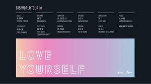 bts will kick off love yourself world tour this august starting its first concert in seoul big hit entertainment released a teaser poster for love