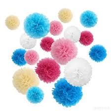Tissue Paper Pom Poms Flower Balls Reechin Tissue Paper Pom Poms Hanging Flower Balls For Wedding Christmas Party Decorations Pack Of 18 Pink Blue O25e7rtfd