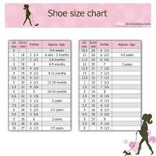 toddler shoe size kids shoe size chart urban mommies