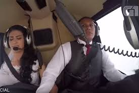 Horrifying video shows helicopter crash that killed bride on her.