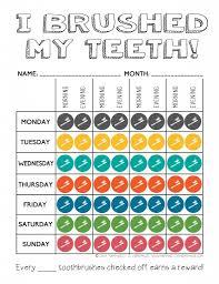 Teeth Cleaning Sticker Chart Cute Printable Tooth Brushing Reward Chart Printable