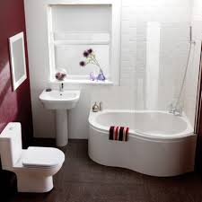 small bathroom clock:  snazzy heart shaped bathtub design and adorable small bathroom remodel with pedestal sink plus