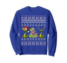 Christmas Snake Lights Christmas Three Snake Cute Kids Gift Love Lights Santa Hat Sweatshirt