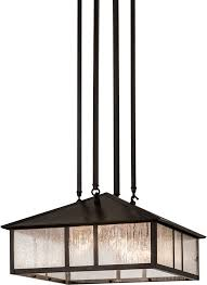 meyda tiffany 173208 double bar mission clear seedy craftsman brown ceiling pendant light loading zoom