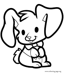 Small Picture Rabbits and Bunnies A lovely rabbit sitting coloring page
