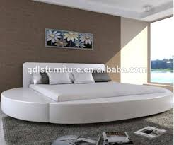 Latest king size round bed design with PU/PVC and sectional bed mattress