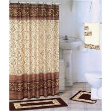 18 piece bath rug set chocolate coffee design rugs shower curtain rings towels world s mart