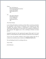 Sample Proposal Acceptance Letter Free Letters Event
