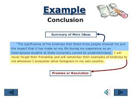 parts of an essay example conclusion