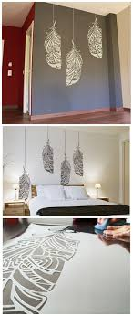 diy home wall decor ideas. feather stencil, ethnic decor element for wall, furniture or textile. painting i. - home ideas diy wall a
