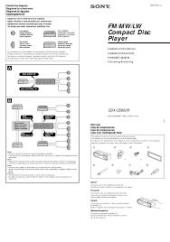 search sony cdx m60ui user manuals manualsonline com sony cdx c5850r