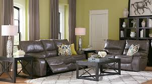 Cindy Crawford Home Gianna Gray Leather 40 Pc Living Room With Awesome Leather Couch Living Room Ideas Model