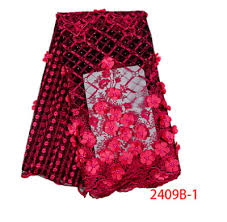 african beaded 3d tulle lace fabric 2019 french high quality nigerian embroidery 2002