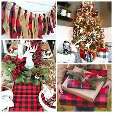 Rustikale Weihnachtsdeko Karomuster Vermitteln Ein
