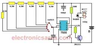 Minute Timers 5 To 30 Minute Timer Circuit Using 7555 Ic Electronics Area