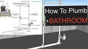 How To Plumb A Bathroom With Free Plumbing Diagrams Youtube