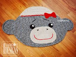 y sock monkey rug crochet pattern rugs blankets loveys portfolio page irarott inc