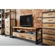 20 Best Collection Of Industrial Tv Stands Cabinet And Stand Ideas  Pertaining To Decorations 18 Rustic Industrial Tv Stand1