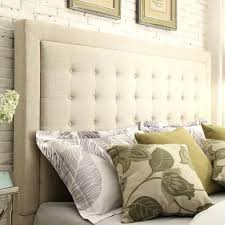 ... Overstock Headboard Inspire Q Button Tufted Square Queen Upholstered  Shopping Big Headboards Full: Large Size ...