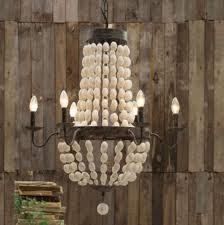 wood chandelier lighting. Iron Frame \u0026 Wood Wooden Beads Chandelier 6 Lights Large Fixture WOW - Amazon.com Lighting