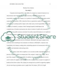 mcdonalds business case study example topics and well written mcdonalds business case study essay example