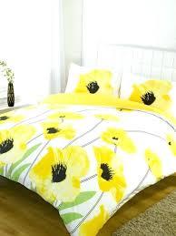 blue fl bedding sets yellow and white comforter cotton duvet set