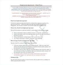 Free Temporary Employment Contract Template Image Collections ...