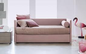 Letto con letto estraibile singolo moderno in tessuto biss