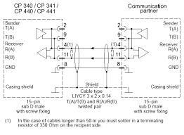 how do you connect a cp 340 cp 341 cp440 or cp 441 to a circuit diagram
