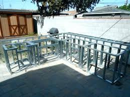 outdoor kitchen frames metal frame outdoor kitchen outdoor kitchen frame kitedium size of island