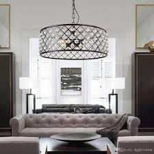 Großhandel Moderne Vintage Industrial Design E27 Schwarz Eisen K9 Kristall Runde Führte Pendelleuchten Leuchten Für Loft Esszimmer Schlafzimmer