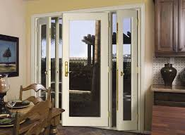 Image of: French Patio Doors With Blinds Inside